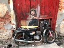Mural - Old motorcycle