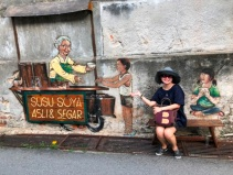 Mural - soyabean vendor