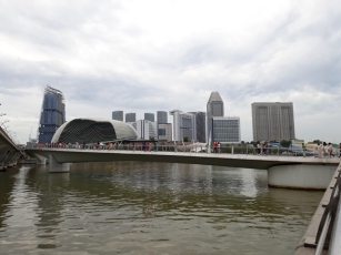 Tourists under Esplanade drive