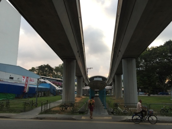 Under the MRT tracks