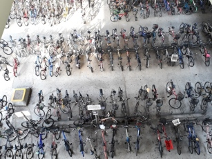 Bicycles view from Boon Lay platform
