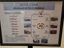 SAFTI Bus tour route