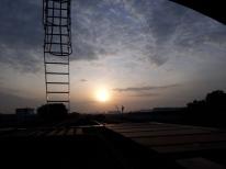 Sunrise from Joo Koon platform