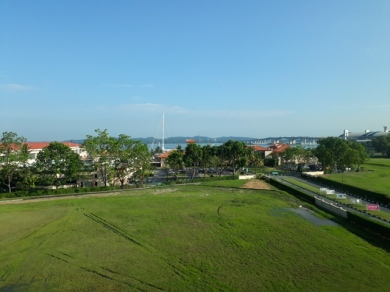 View of Raffles Marina