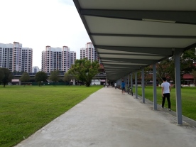 Walking to the MRT