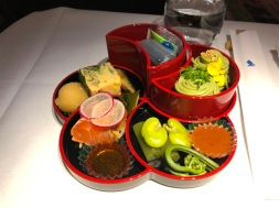 Sushi on Singapore airlines