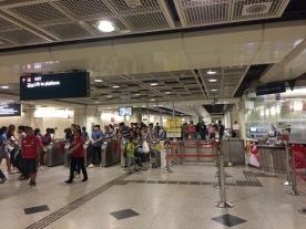 Busy Farrer Park MRT Platform